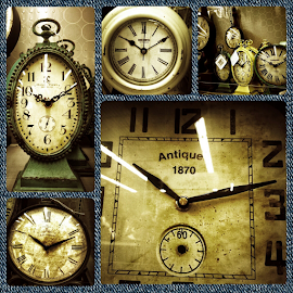 by Dipali S - Digital Art Things ( time, collage, antique, clocks, object )