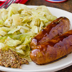 Cider Vinegar-Glazed Chicken Sausage