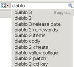 Firefox Suchvorschläge aufgeklappt