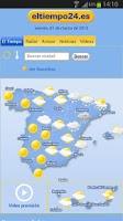 Screenshot of El Tiempo por eltiempo24.es