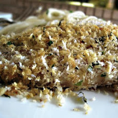 Flounder Fillets With Panko Bread Crumbs