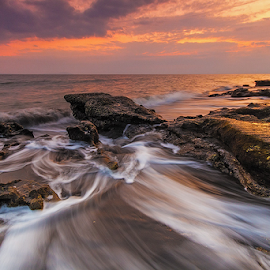 flowing long by Budi Astawa - Landscapes Beaches ( bali, baluk, jembrana, west bali, rening, beach, negara )