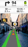 Screenshot of Wikitude Drive Spain