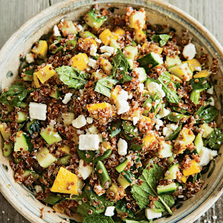 Yellow Squash and Red Quinoa Salad