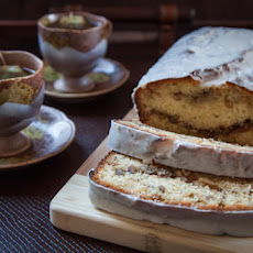 Tequila Glazed Lemon Bread with Rosemary Walnut Filling