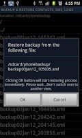 Screenshot of Secure Backup & Restore