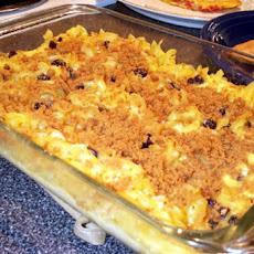 Noodle Kugel (With Orange Soaked Yellow Raisins)