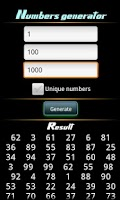 Screenshot of Number Generator Pro
