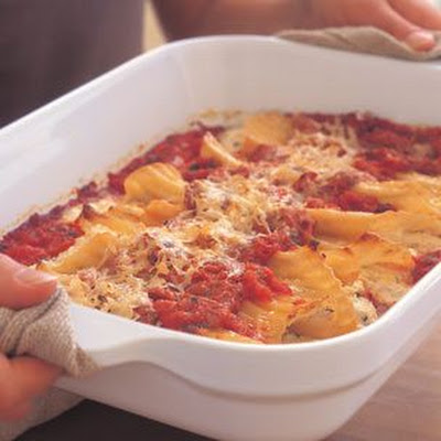 Three-Cheese Manicotti