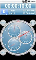 Screenshot of Analog Interval Stopwatch