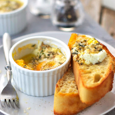 Parmesan Baked Eggs