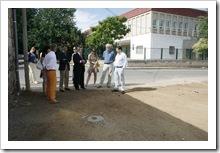 Delegados de la Junta visitaron en el mes de julio, junto a ediles y técnicos municipales, la zona donde quedará emplazado el recinto multifuncional.