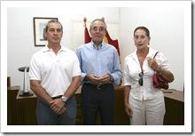De izquierda a derecha, Francisco Real Camacho, Jesús López Fernández y María Teresa García de Ceca.