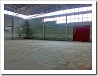 Interior del recinto, una vez ha quedado desmontada la anterior pista polideportiva.