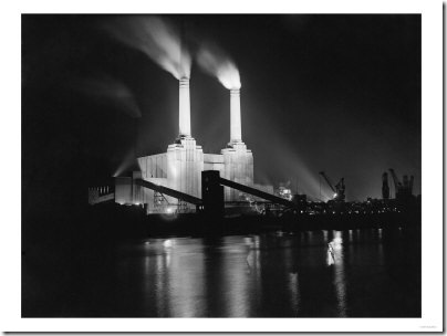 WA3189318~Battersea-Power-Station-Lit-up-at-Night-1951-Posters