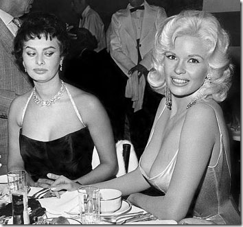 sophia-loren-and-jayne-mansfield-are-bosom-pals