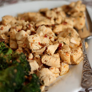 Chipotle Ranch Chicken Bites with Broccoli