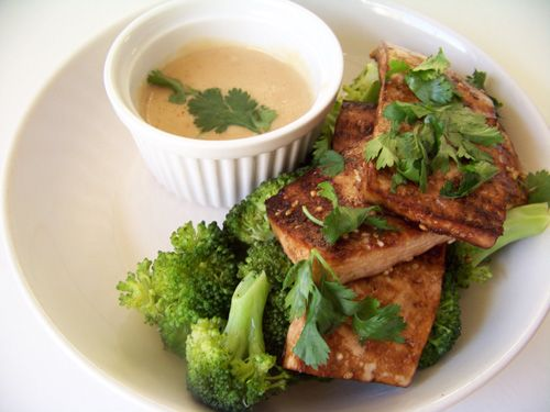 Other People's Food: Sesame Roasted Tofu with Satay Sauce and Broccoli
