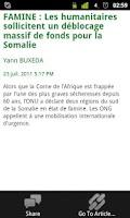 Screenshot of Afrique Infos et Actu