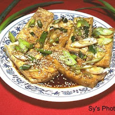 Fried Bean Curd (Tofu) With Soy Sauce by Sy