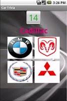 Screenshot of Cars Trivia Amazing