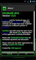 Screenshot of Green Socialize for Facebook