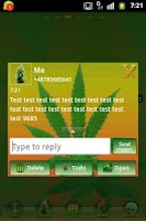 Screenshot of GO SMS PRO Theme Ganja Theme