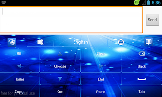 Screenshot of GO Keyboard Glow Blue