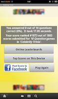 Screenshot of Celebrity Trivia