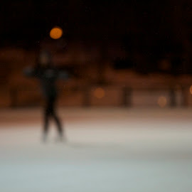 blurred skate by Delei Zheng - Sports & Fitness Fitness ( skate, red, ice, night, focus, spot )