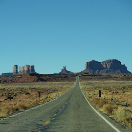 Southwest Sojourn by Darla Judes - Novices Only Landscapes ( monument valley, utah, arizona, southwest, scenic, road )