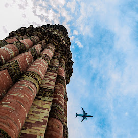 Qutub Minar - My Perspective by Ankit Chauhan - Buildings & Architecture Statues & Monuments ( sky, quran, blue, india, heights, heritage, delhi, qutub_minar )