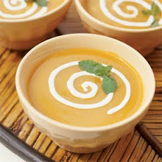 Chilled Roasted Pepper-Mango Soup