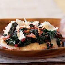 Pancetta and Swiss Chard with Soft Polenta