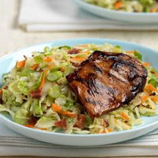 Grilled Chicken with Wilted Slaw