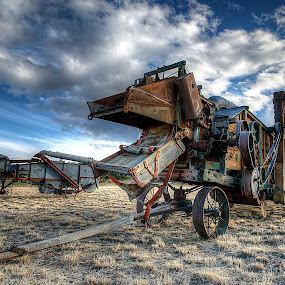 Thresher Art by Gary Piazza - Transportation Other (  )