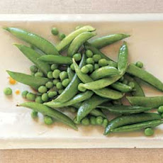 Fresh Green Peas and Sugar Snap Peas in Sesame Dressing