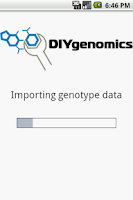 Screenshot of DIYgenomics