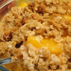 Quick Ginger Peach Cobbler