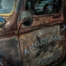 Angry Ham's Toeing (2) by John Hoey - Transportation Automobiles ( angry ham's toeing, angry ham' garage bar and grill, truck, vintage, framingham, classic )