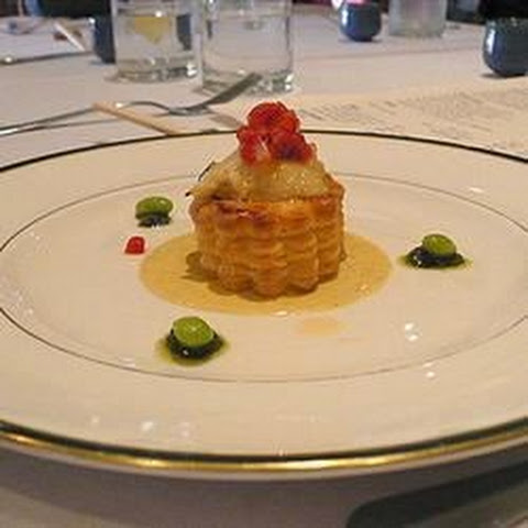 Scallops in Pastry with Lobster Sauce