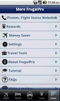 Screenshot of Frugal Pro with Google Flights