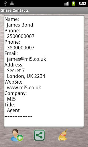 Share Contacts via SMS Ads
