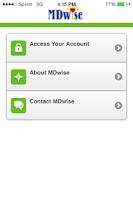 Screenshot of myMDwise Mobile