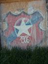 Garażowy Mural Wisły Kraków