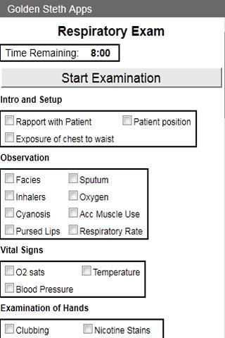 OSCE Repiratory Exam Checklist