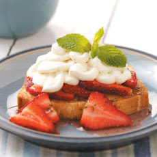 Lemon-Mint Pound Cake with Strawberries Recipe