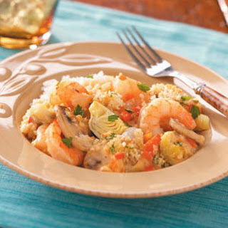 Artichoke Shrimp Bake
