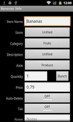 SplashShopper List Organizer - screenshot