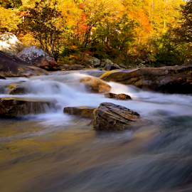 Flow by Gregory Cook - Landscapes Waterscapes ( chattanooga, mountains, chickamauga, park, fall, river )